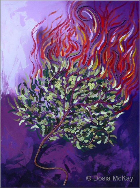 Burning Bush Art The Burning Bush - Dosia McKay